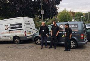plumber Central London team with van